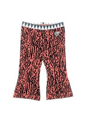 Feetje Feetje flare broek brique Zebra