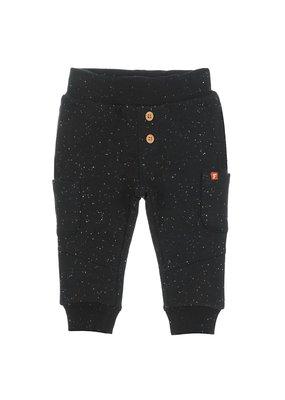 Feetje Feetje broek met zakjes zwart melange Bear Hugs