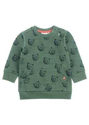 Feetje Feetje sweater aop army Bear Hugs