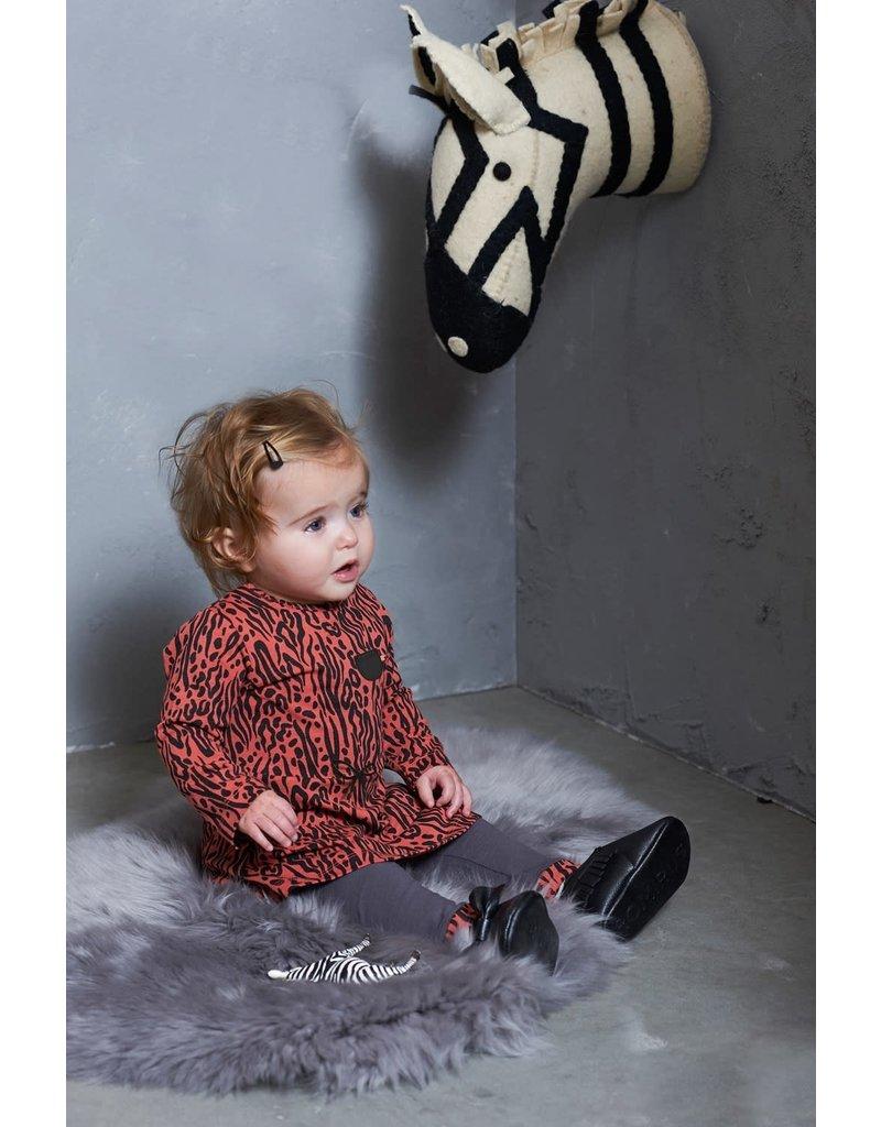 Feetje Feetje legging antraciet Zebra