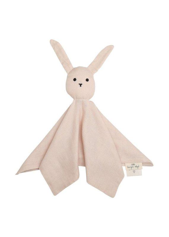 konges slojd Konges slojd Knuffeldoekje sleepy rabbit Light rose