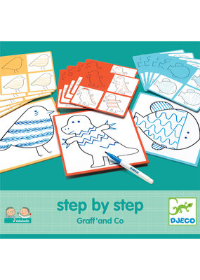 Djeco Djeco step by step tekenkaartje Graff and Co