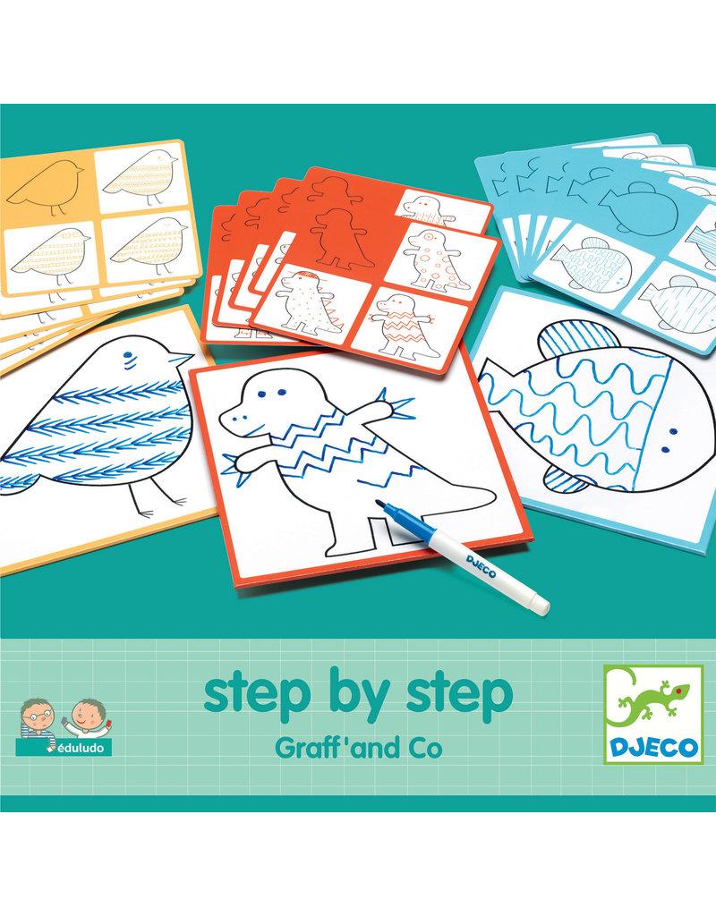 Djeco Djeco step by step tekenkaartje Graff and Co dj08324