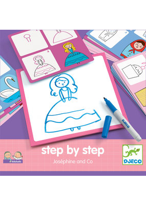 Djeco Djeco step by step tekenkaarten Josephine