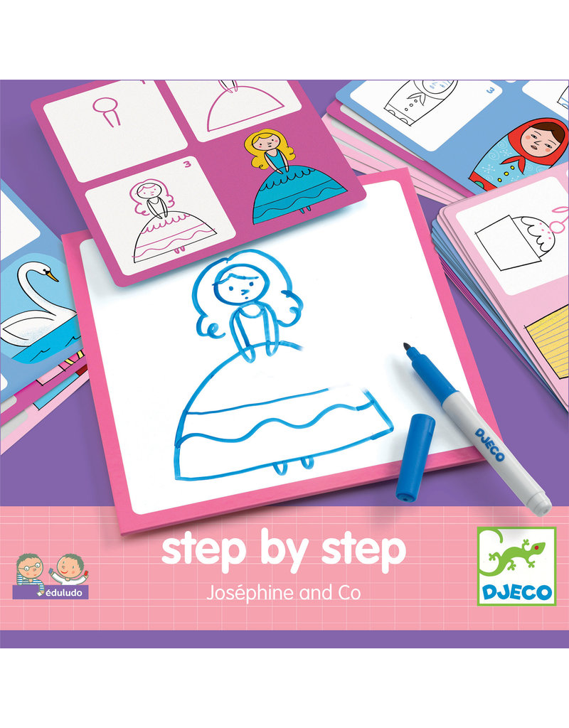 Djeco Djeco step by step tekenkaarten Josephine dj08320