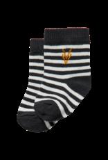 Levv Levv socks Zebb off white stripe one size
