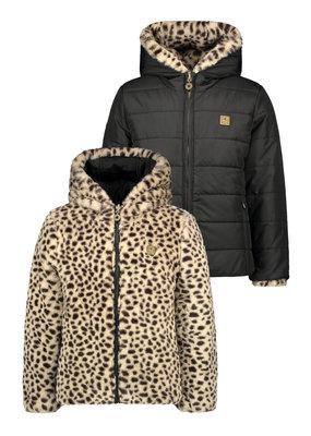 Like Flo Like Flo reversible hooded jacket animal