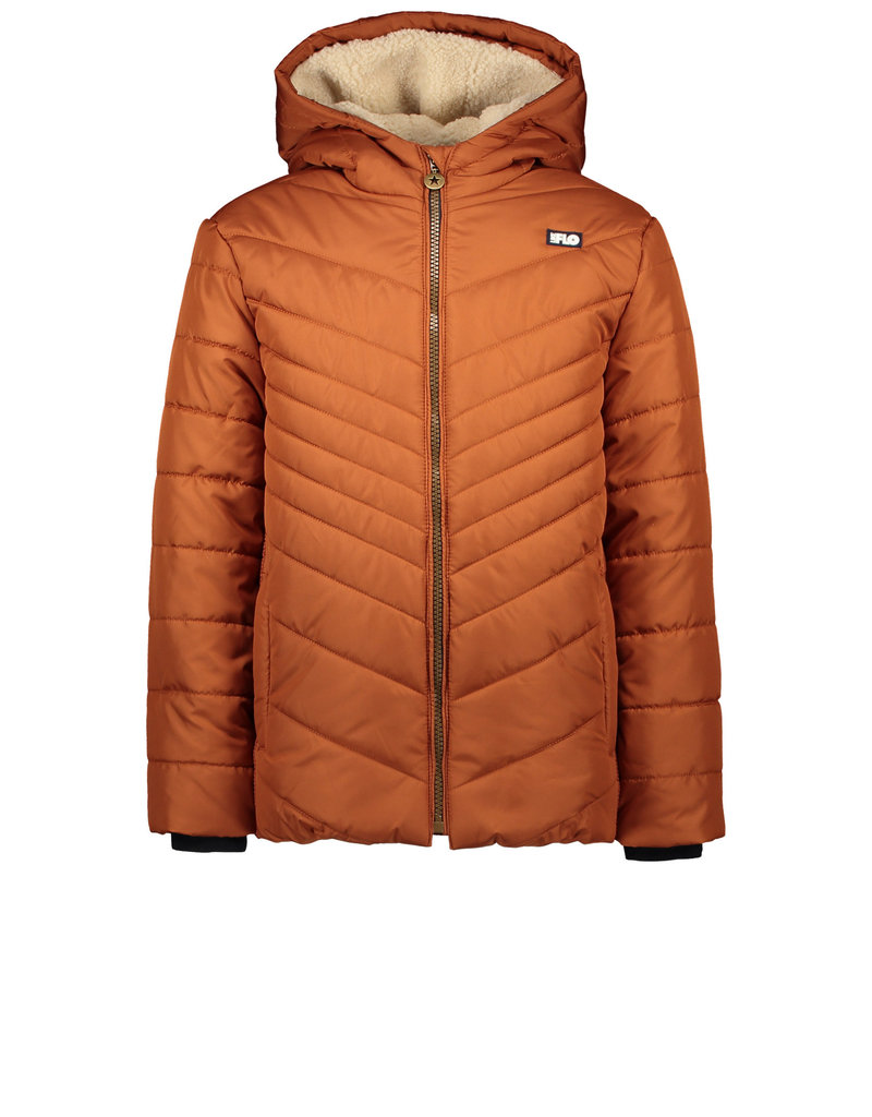 Like Flo Like Flo long hooded jacket cognac