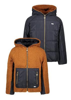Like Flo Like Flo reversible hooded jacket navy