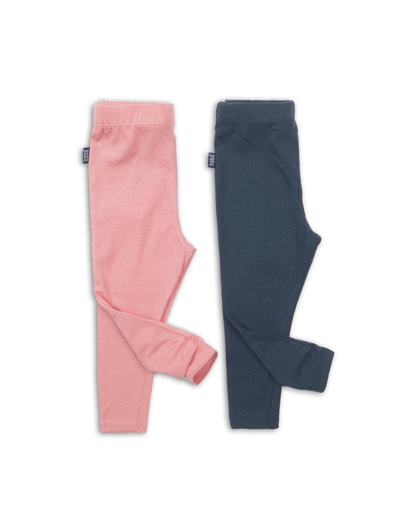 Koko Noko Koko Noko legging 2 pack pink + navy
