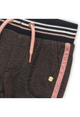 Koko Noko Koko Noko broek jogging rosé glitter + black