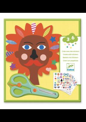Djeco Djeco Creëer met stickers Kappers