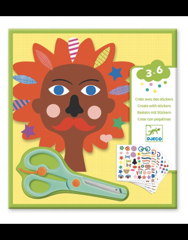 Djeco Djeco Creëer met stickers Kappers dj09045
