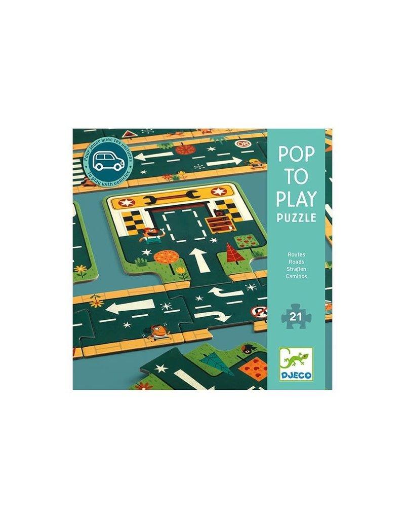 Djeco Djeco pop to play autopuzzel dj07162