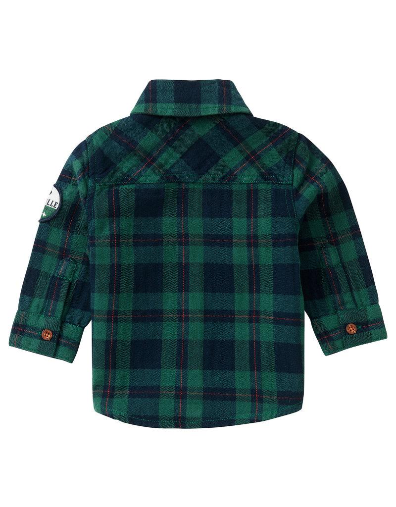 Noppies Noppies blouse Klipplaat check farm green