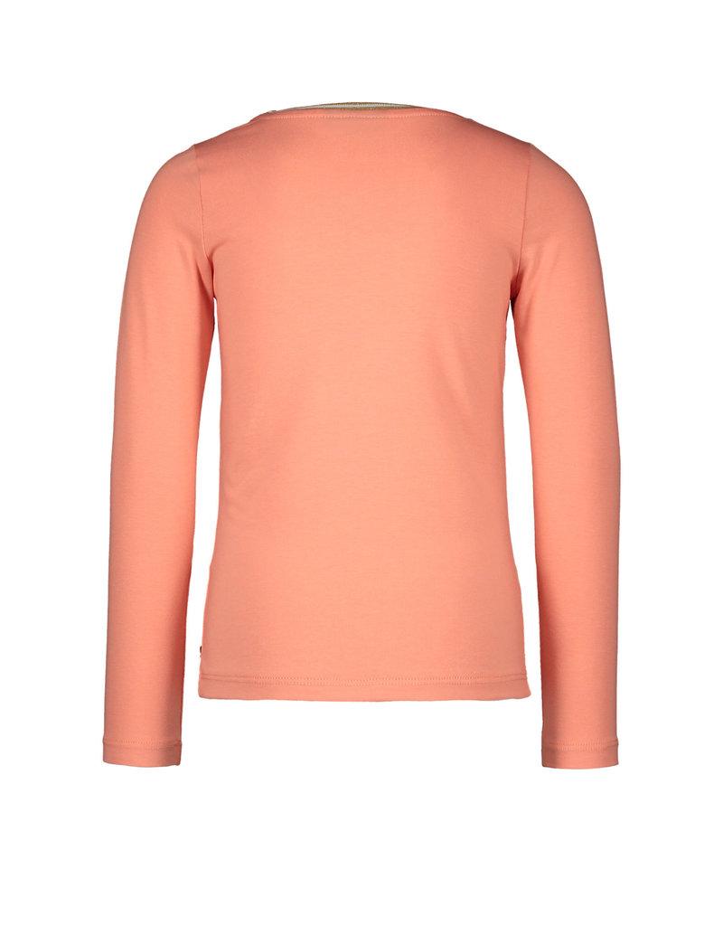 Like Flo Like Flo jersey longsleeve rib neck OH LALALA old pink