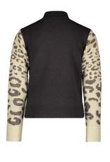 Like Flo Like Flo cat knit sweater navy