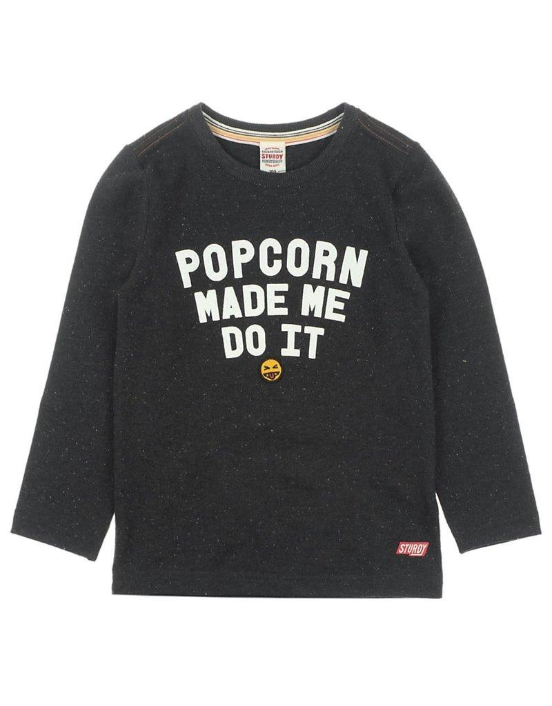 Sturdy Sturdy longsleeve Popcorn - Popcorn Power zwart melange
