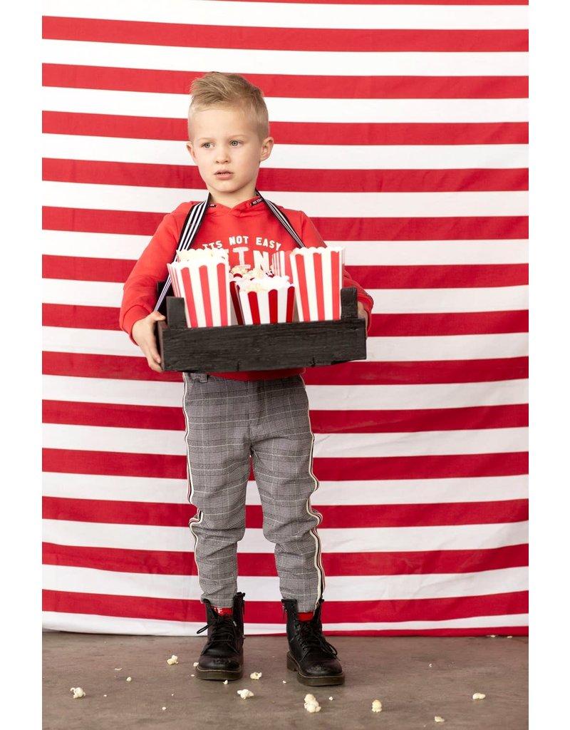 Sturdy Sturdy hoody - Popcorn Power rood