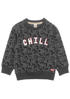 Sturdy Sturdy sweater Chill - Popcorn Power antraciet melange