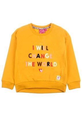 Jubel Jubel sweater Change - Bittersweet okergeel