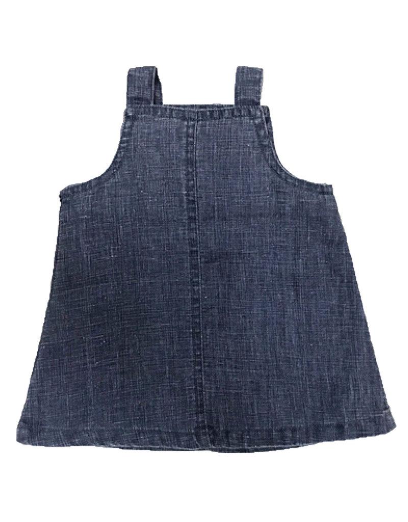 Lil' Atelier Lil' Atelier denim jurk Nbfgusty medium blue denim