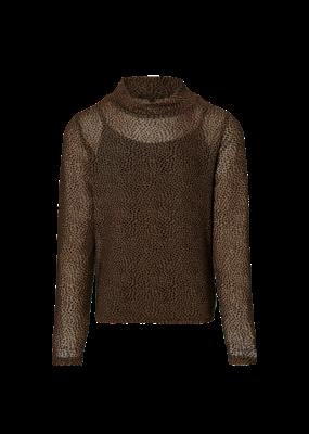 Levv Levv blouse Kaya brown dot