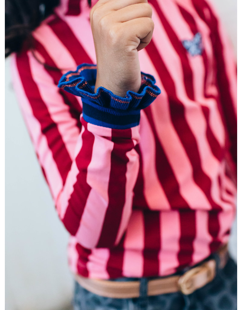 Quapi Quapi longsleeve Daylie red chili stripe