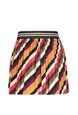 Like Flo Like Flo stripe velvet plisse rok stripe
