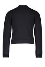 Like Flo Like Flo sweat cardigan chenille knit navy