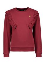 Like Flo Like Flo sweater fancy rib ruffle bordeaux