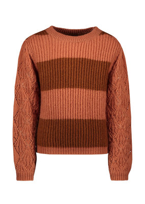 Like Flo Like Flo knitted ajour sweater blush