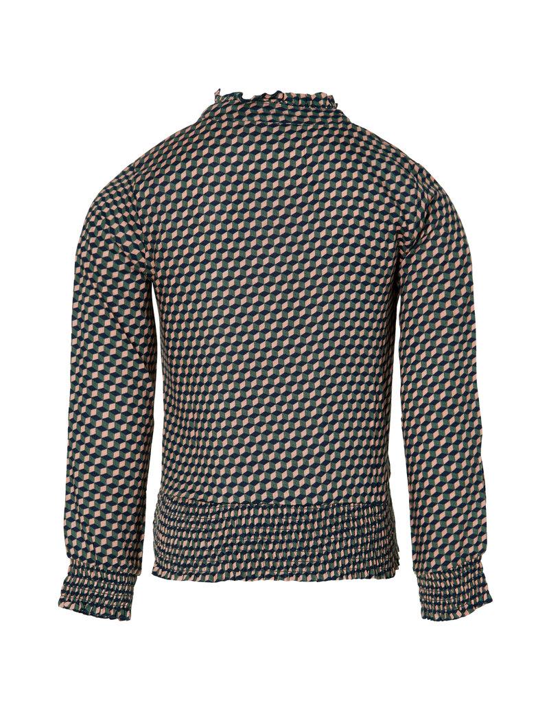Quapi Quapi blouse Do pink geomatic