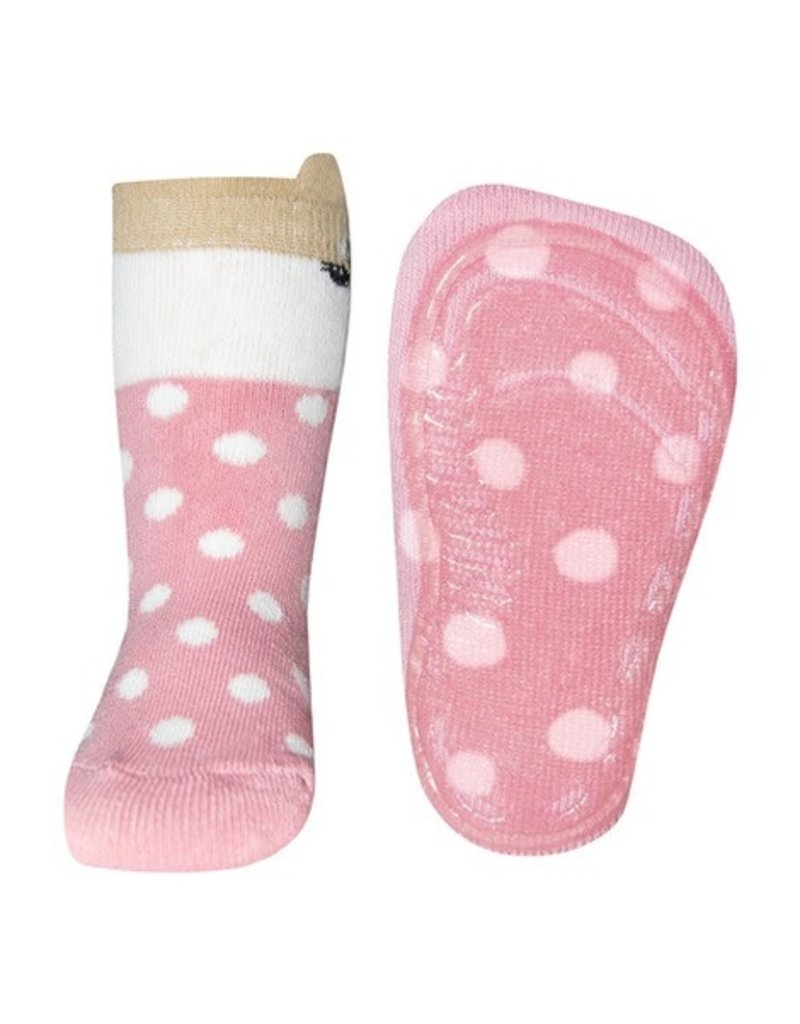 Ewers Anti slip sokken wildrose stip