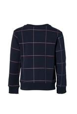 Levv Levv sweater Leo dark blue grid