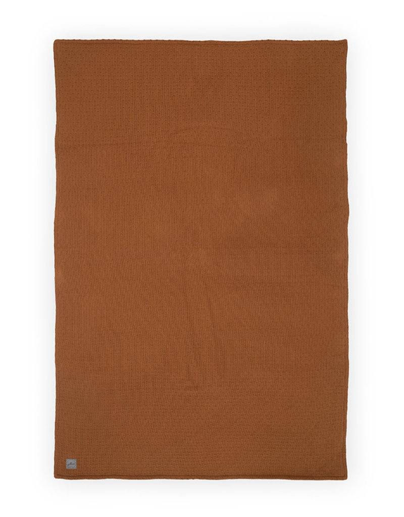 Jollein Jollein Deken teddy 75x100 bliss knit caramel