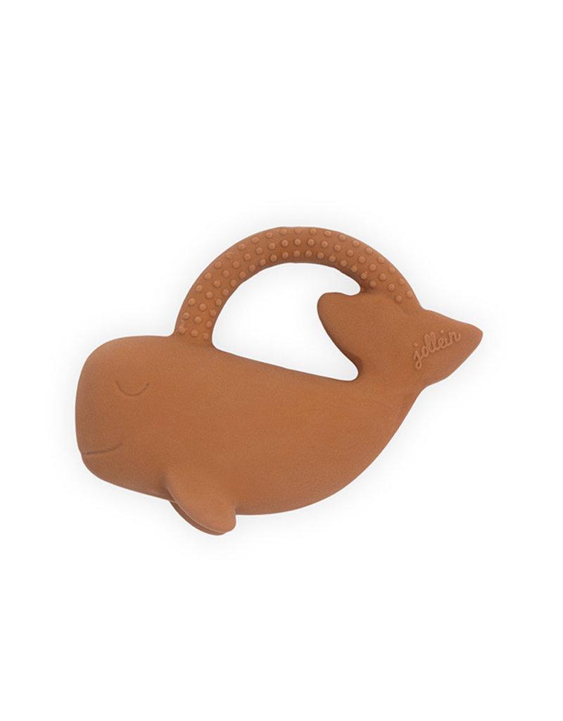 Jollein Jollein Bijtring rubber whale caramel