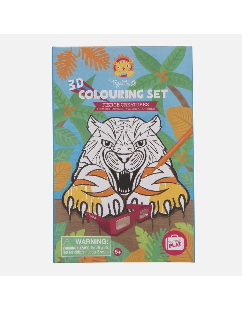 Tiger Tribe 3D Colouring Set Fierce Creatures