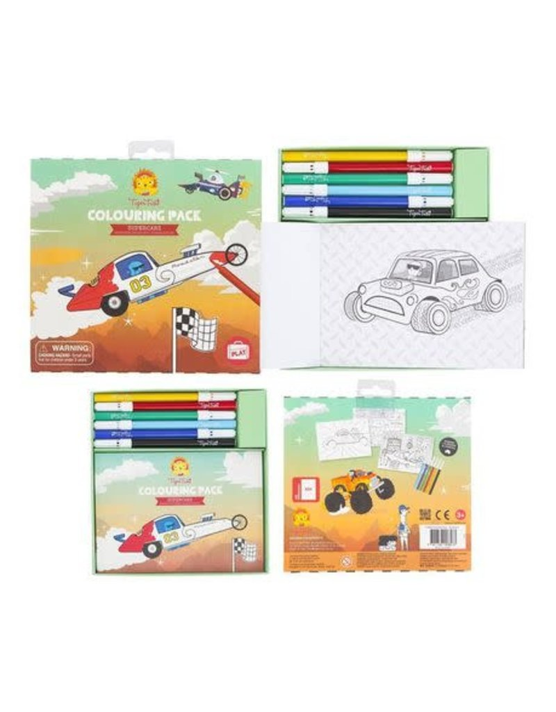 Tiger Tribe Colouring Pack Supercars