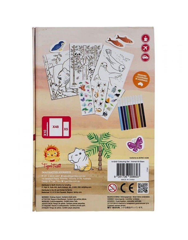 Tiger Tribe Colouring Sets Animals All Stars