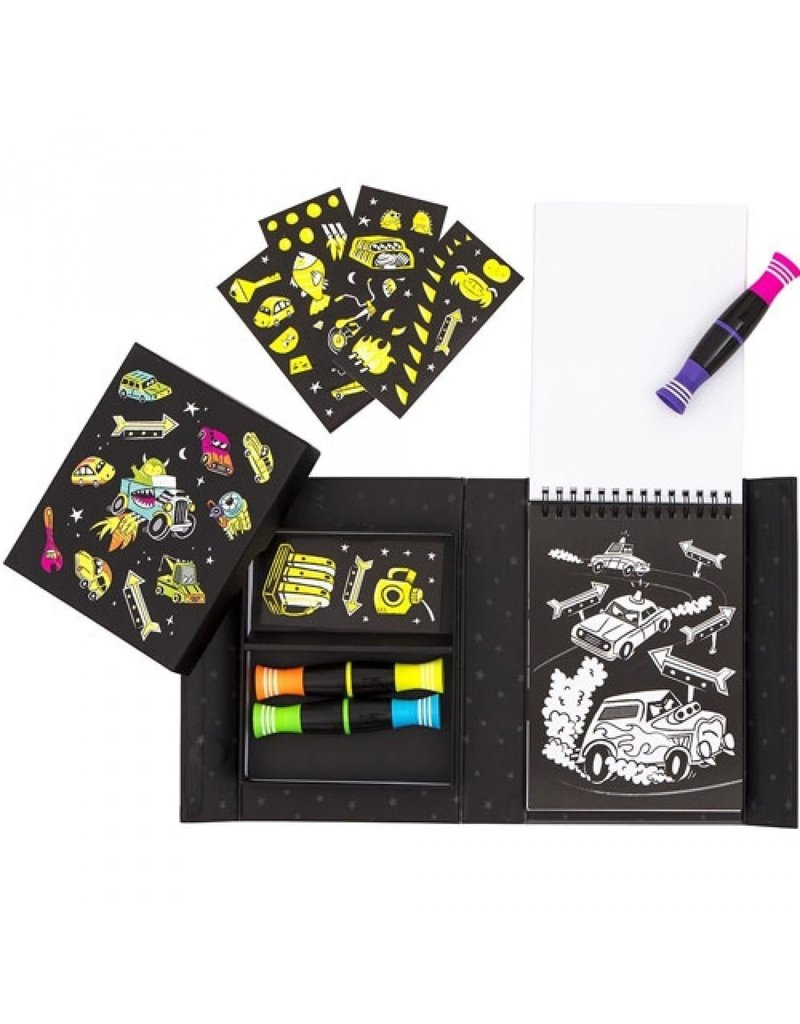 Tiger Tribe Neon Colouring Sets Road Stars