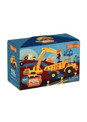 Mudpuppy Foil Puzzel Construction 100pc