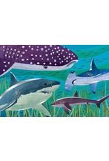 Mudpuppy Foil Puzzel Sharks 100pc