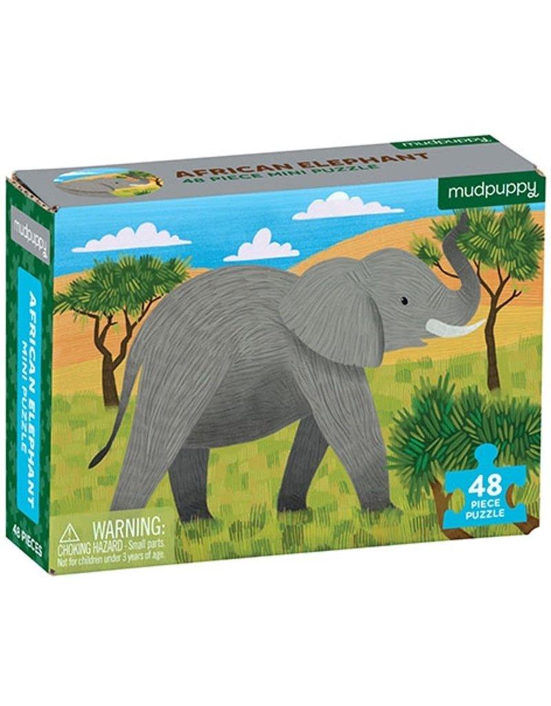 Mudpuppy Mini Puzzel African Elephant 48pc