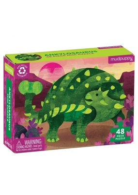 Mudpuppy Mini Puzzel Ankylosaurus 48pc