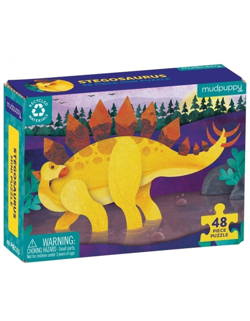 Mudpuppy Mini Puzzel Stegosaurus 48pc