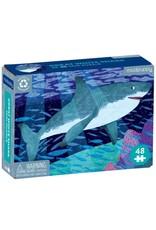 Mudpuppy Mini Puzzel White Shark 48pc