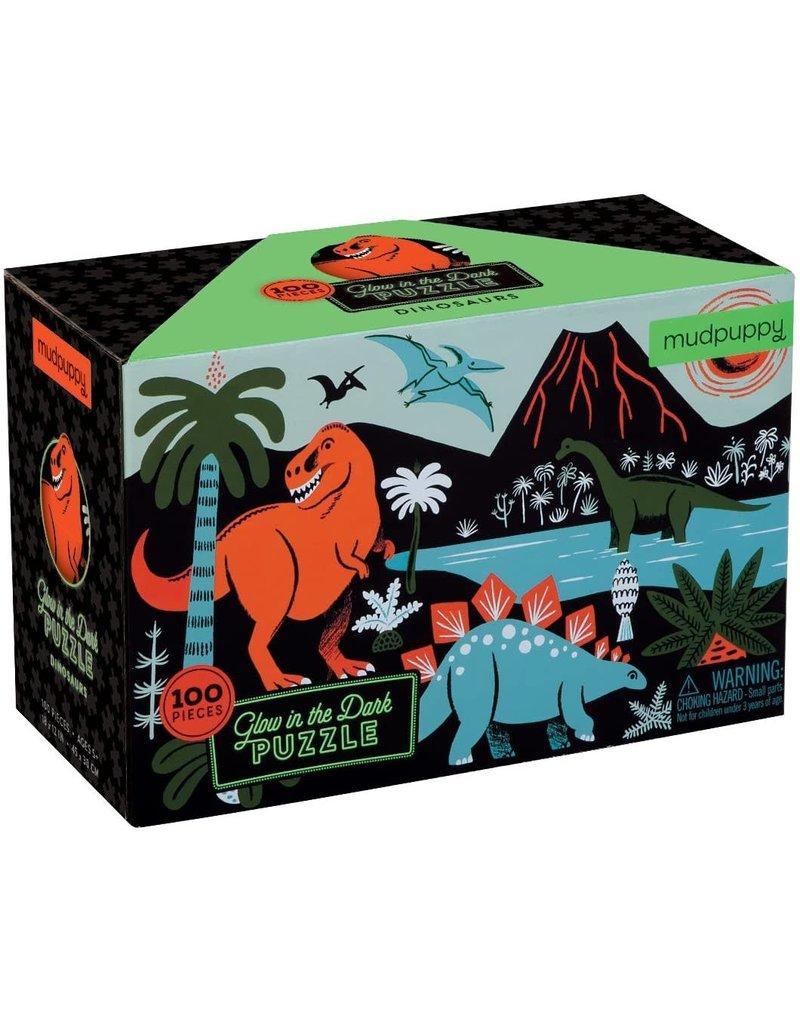 Mudpuppy Glow in the Dark Puzzel Dinosaurs 100pc