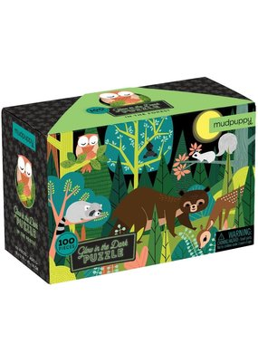 Mudpuppy Glow in the Dark Puzzel In the Forest 100pc