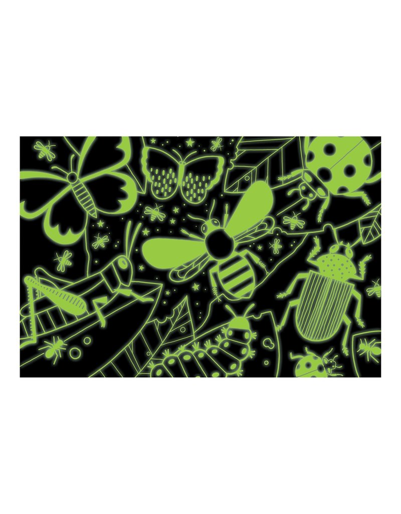 Mudpuppy Glow in the Dark Puzzel Amazing Insects 100pc